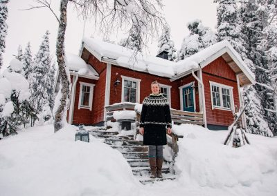 Accommodation villa rauha lake jeris discover muonio lapland finland by allaboutlapland