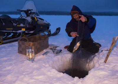 Ice fishing Keimiön koukkaus by Klaus Peter Kappest