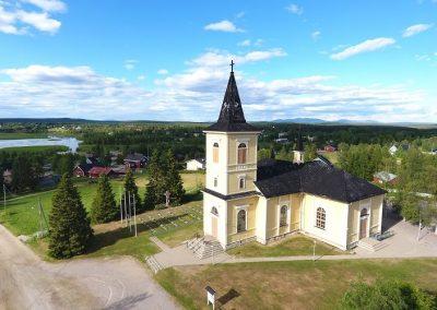 Muonion Kirkko rakennus