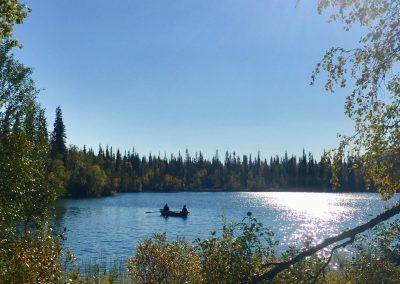 Fishing at the lake HuneteroftheNorth by Laura Hokajarvi