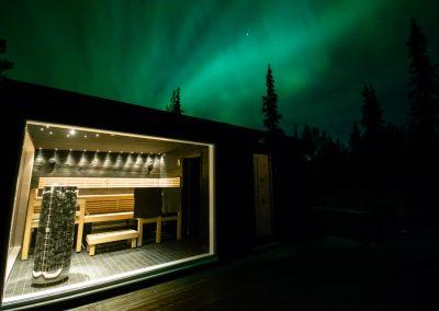 Accommodation ArcticSkylightLodge Sauna jacuzzi DiscoverMuonio Lapland