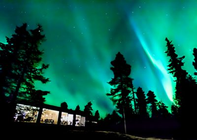 Accommodation ArcticSkylightLodge Outside glasscabins DiscoverMuonio Lapland