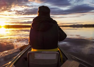 Canoeing by Wildmaker Lapland by Valtteri