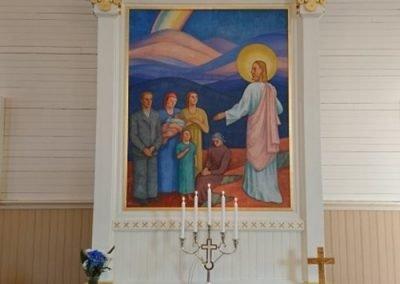 Muonion kirkko alttari