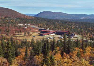 lapland hotels pallas at late summer autumn