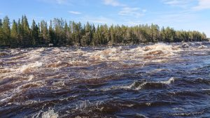 Aijakoski rapids nature attraction by NV Discover Muonio